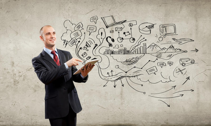 Download Businessman with ipad stock image. Image of businessman - 33386475