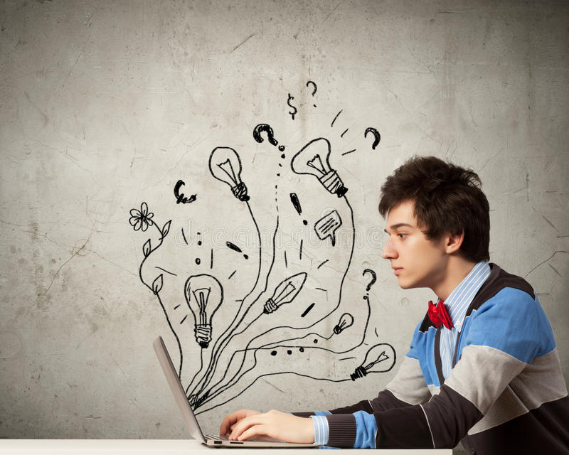 Download Businessman with ipad stock image. Image of education - 33386661