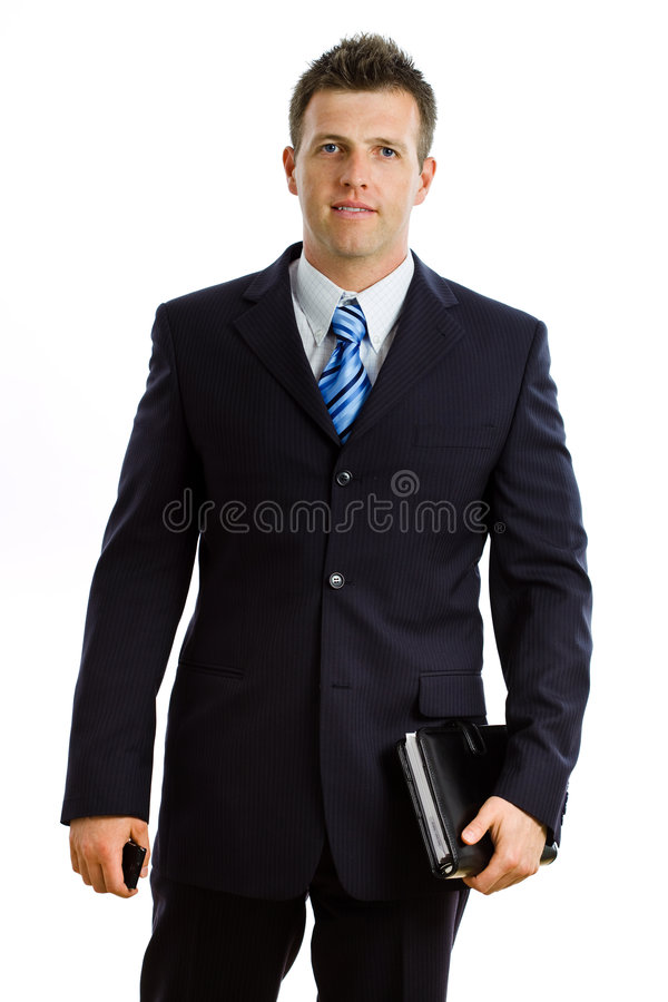 Businessman isolated stock photo