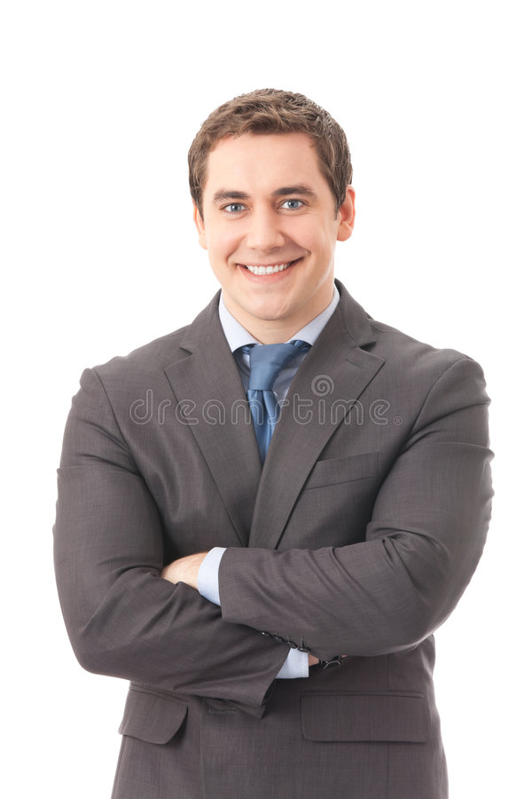 Businessman, isolated royalty free stock image