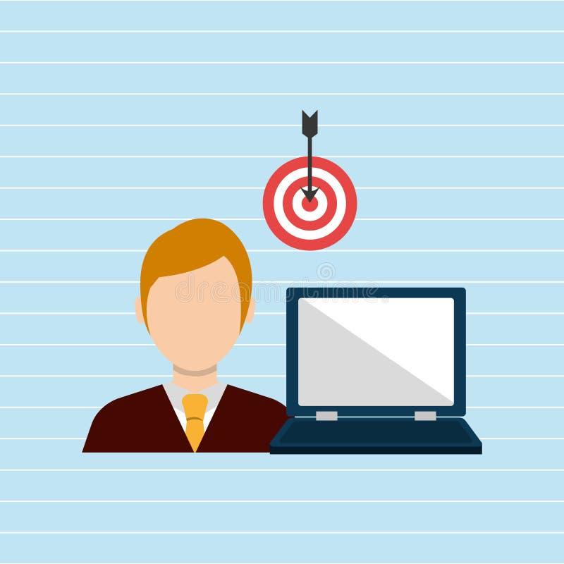 Businessman isolated design. Illustration eps10 graphic stock illustration