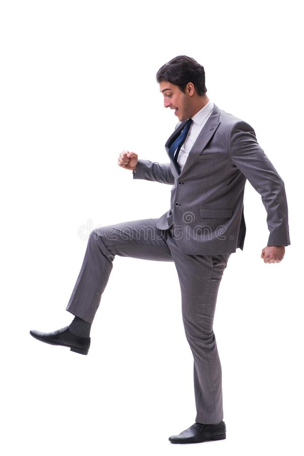 The businessman isolated on the white background. Businessman isolated on the white background royalty free stock image