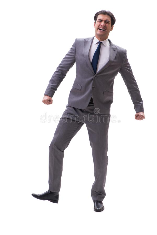 The businessman isolated on the white background. Businessman isolated on the white background royalty free stock images