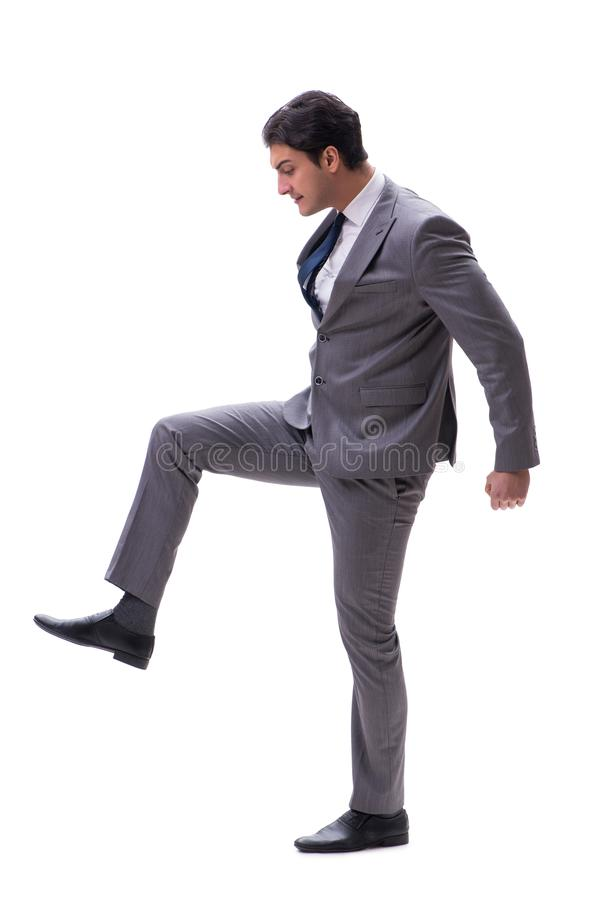 The businessman isolated on the white background. Businessman isolated on the white background stock photography