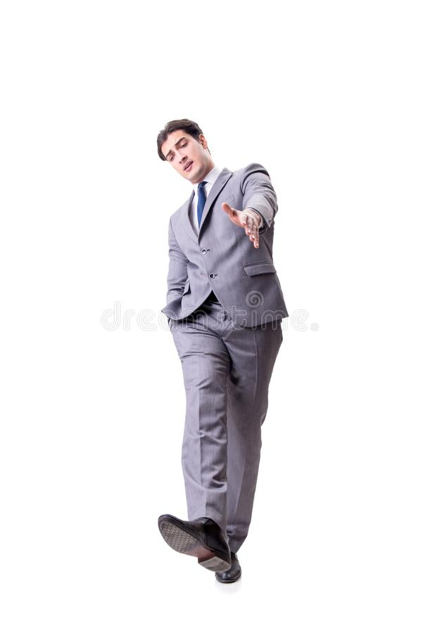 The businessman isolated on the white background. Businessman isolated on the white background royalty free stock photography