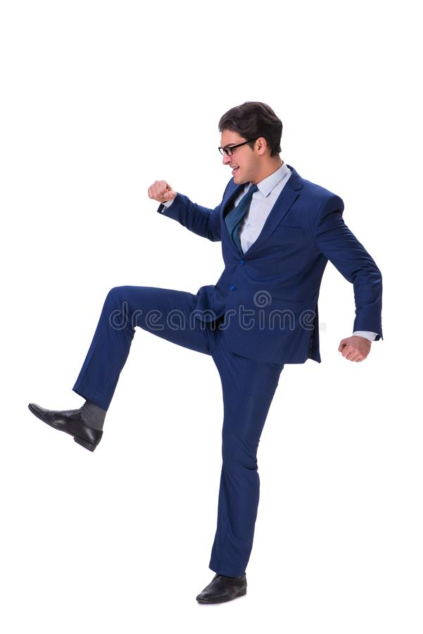 The businessman isolated on the white background. Businessman isolated on the white background stock photo