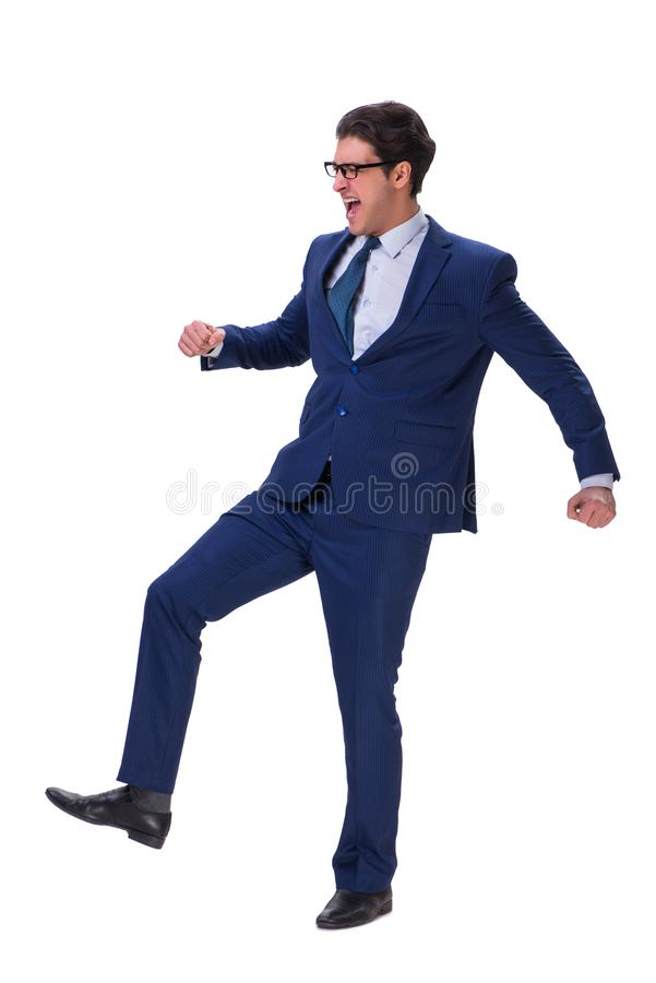 The businessman isolated on the white background. Businessman isolated on the white background royalty free stock photo