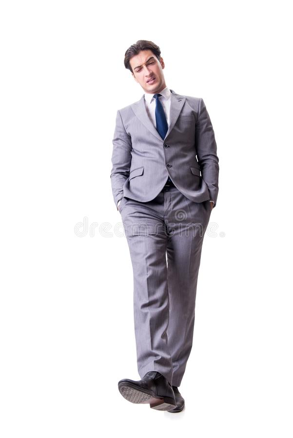 The businessman isolated on the white background. Businessman isolated on the white background royalty free stock photos