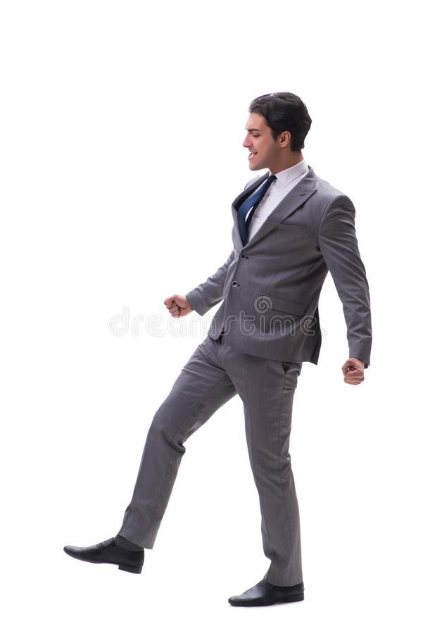 The businessman isolated on the white background. Businessman isolated on the white background stock photos