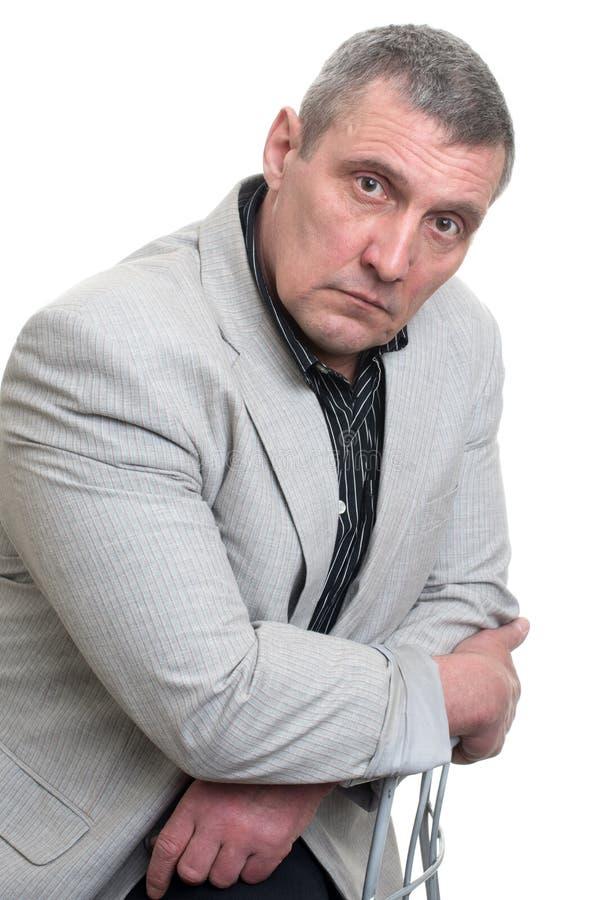 Businessman isolated on white royalty free stock photo