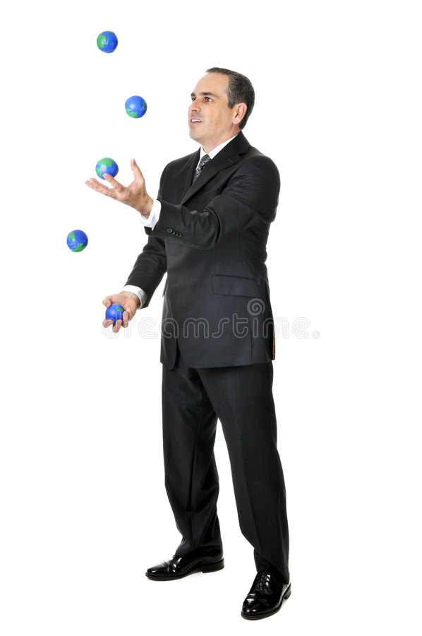 Businessman juggling stock images
