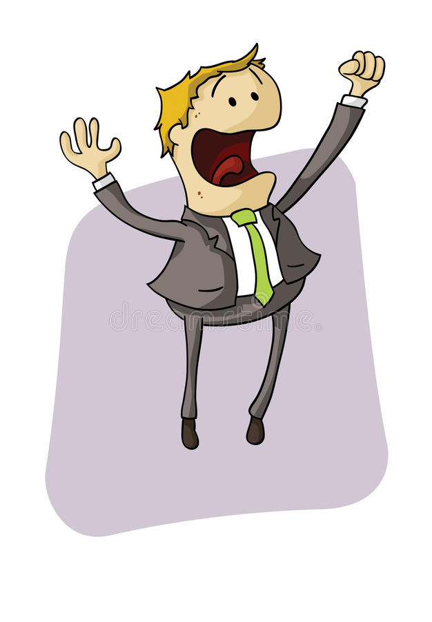 Download Businessman jump stock vector. Image of raised, cartoon - 26666505