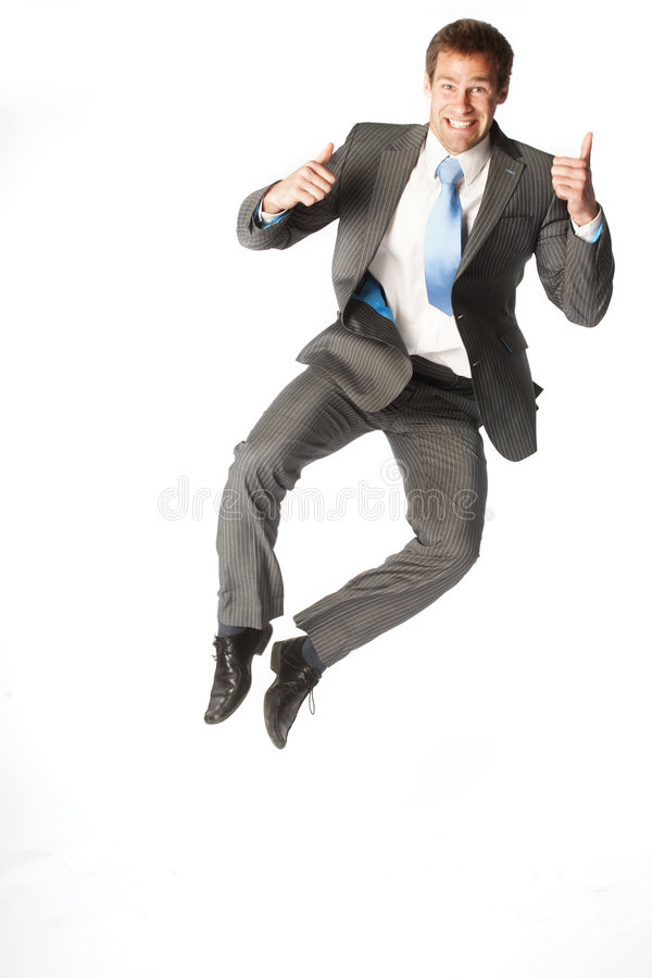Businessman jump royalty free stock photography