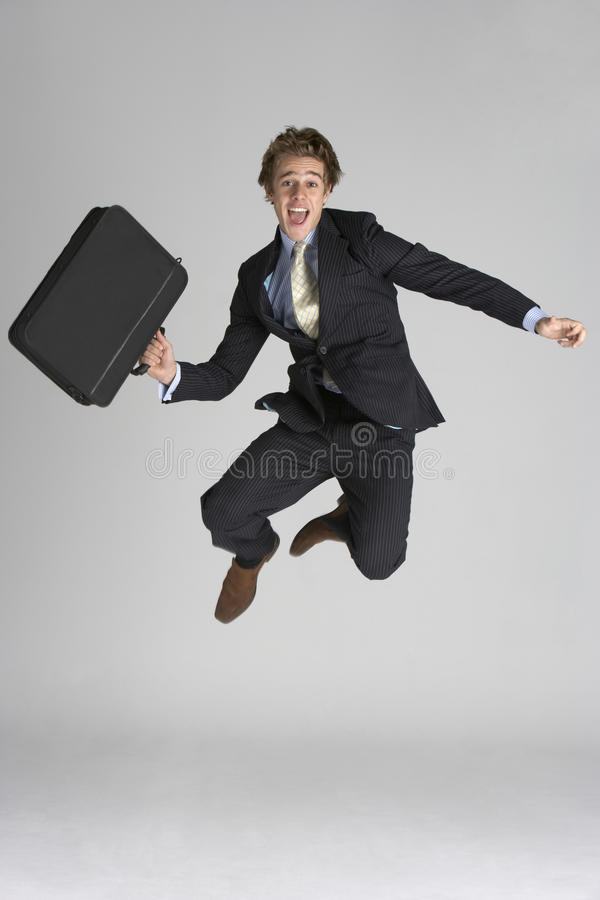 Download Businessman Jumping In Air Royalty Free Stock Photography - Image: 12407017