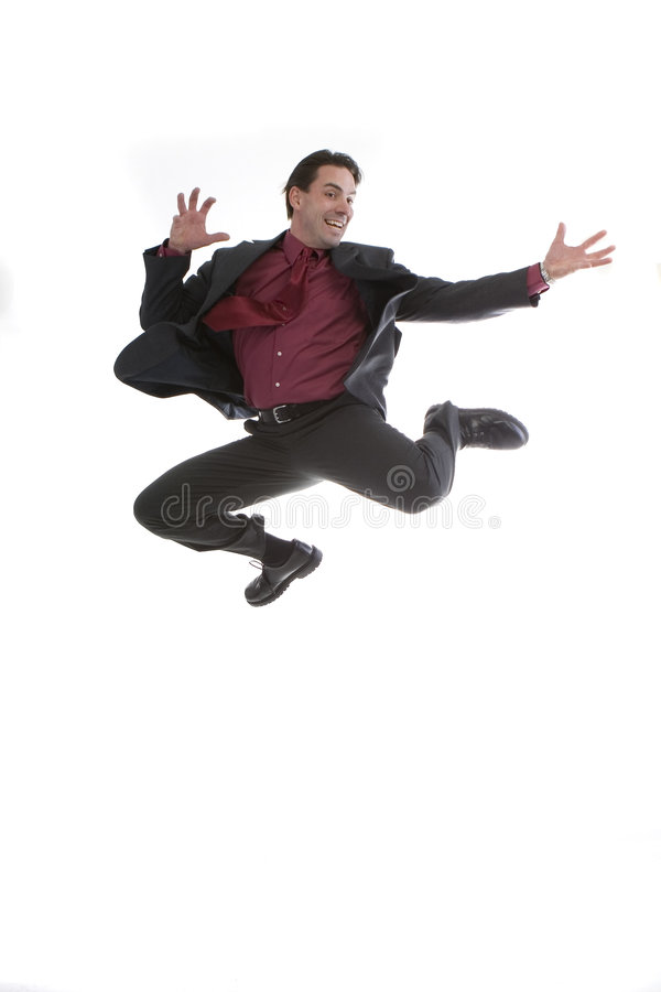 Download Businessman jumping midair stock image. Image of looking - 3739941