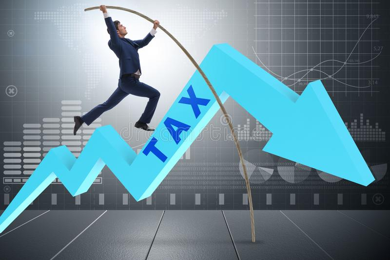 Download The Businessman Jumping Over Tax In Tax Evasion Avoidance Concept Stock Image - Image of burden, goal: 108991201