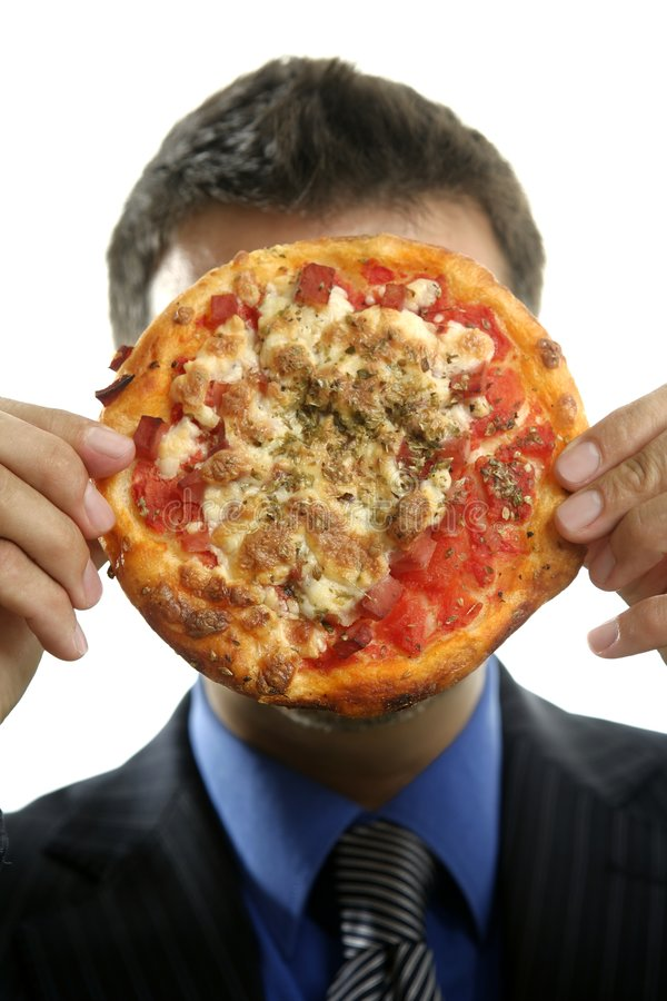 Download Businessman And Junk Fast Food, Pizza Stock Image - Image: 7728391