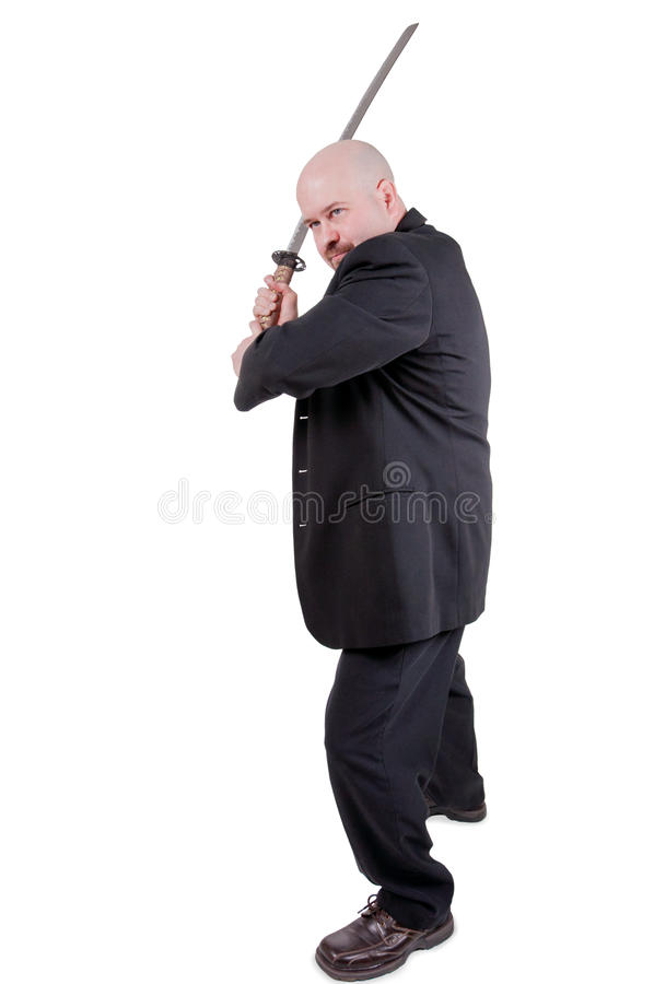 Download Businessman with katana stock image. Image of caucasian - 22180429