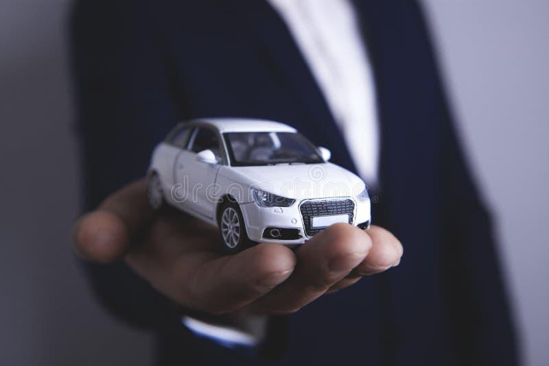 Businessman keeps car.  stock images