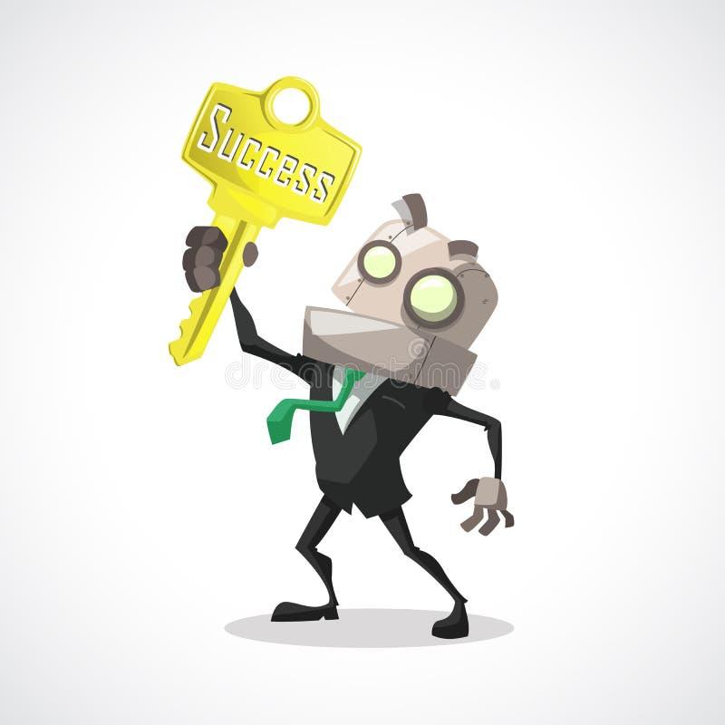 Businessman key success vector illustration
