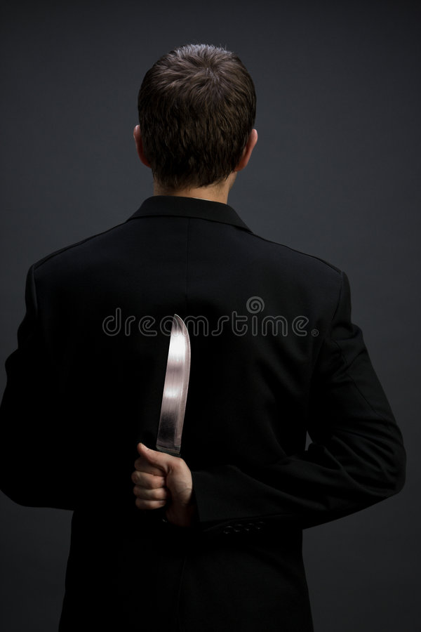 Download Businessman with knife stock image. Image of hiding, formal - 5346115
