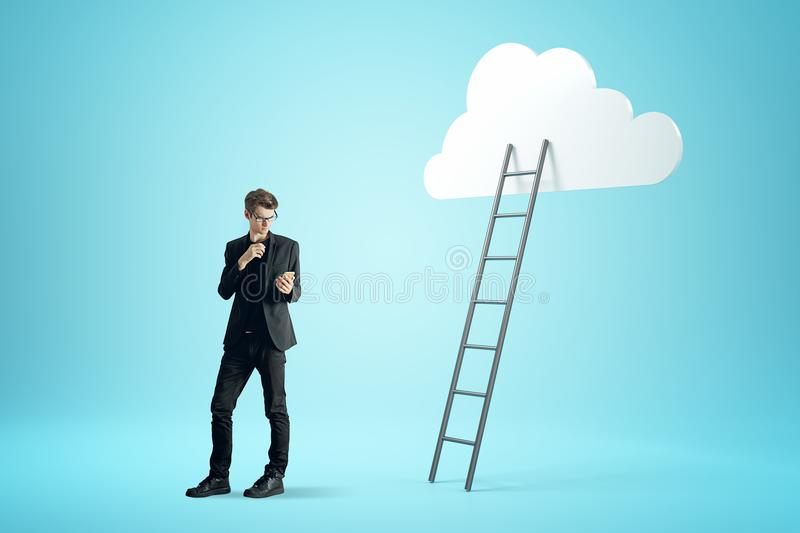 Success, growth and computing concept stock illustration