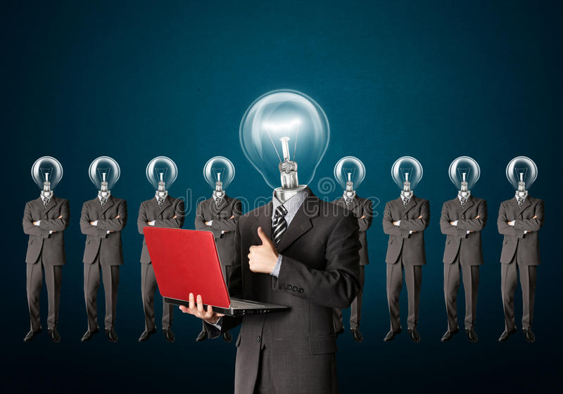 Download Businessman With Lamp-head Have Got An Idea Royalty Free Stock Images - Image: 18075519