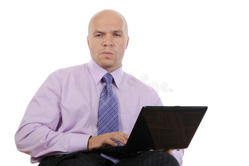 Download Businessman with laptop stock photo. Image of business - 15730950