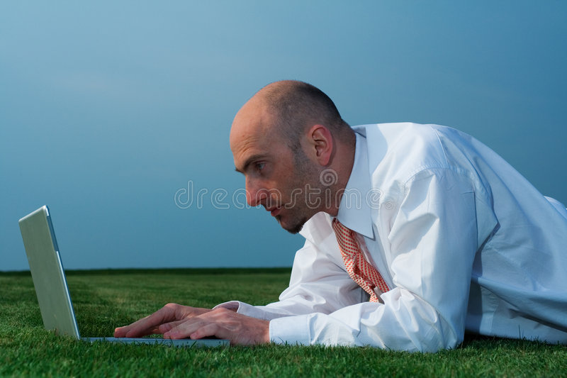 Download Businessman with laptop stock photo. Image of executive - 2321662