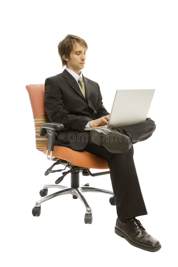 Download Businessman with laptop stock image. Image of cute, white - 2386197