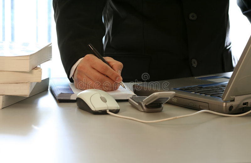 Download Businessman and laptop stock photo. Image of cellular, work - 508026