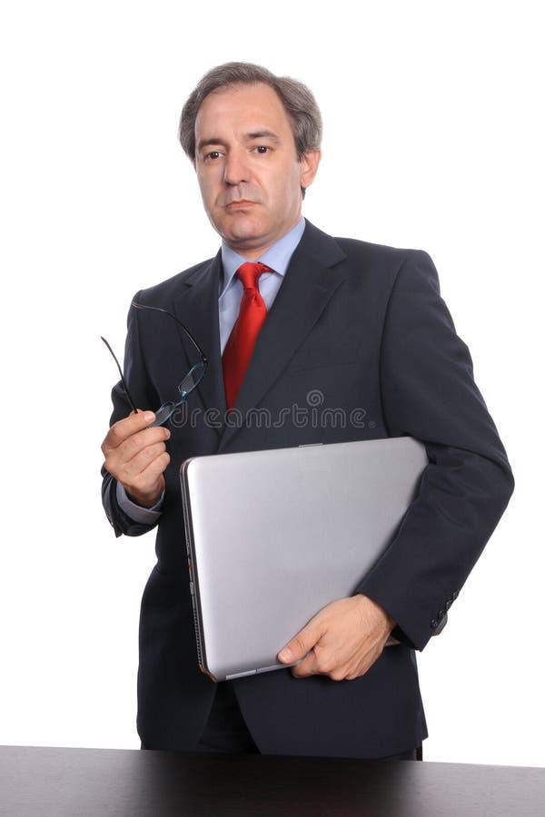 businessman laptop στοκ εικόνες