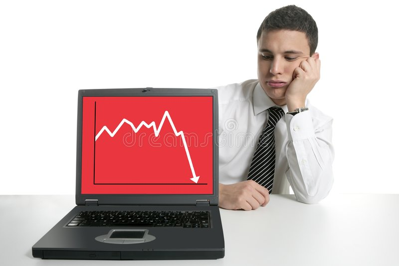 Download Businessman With Laptop Computer, Bad News Royalty Free Stock Photos - Image: 8999378