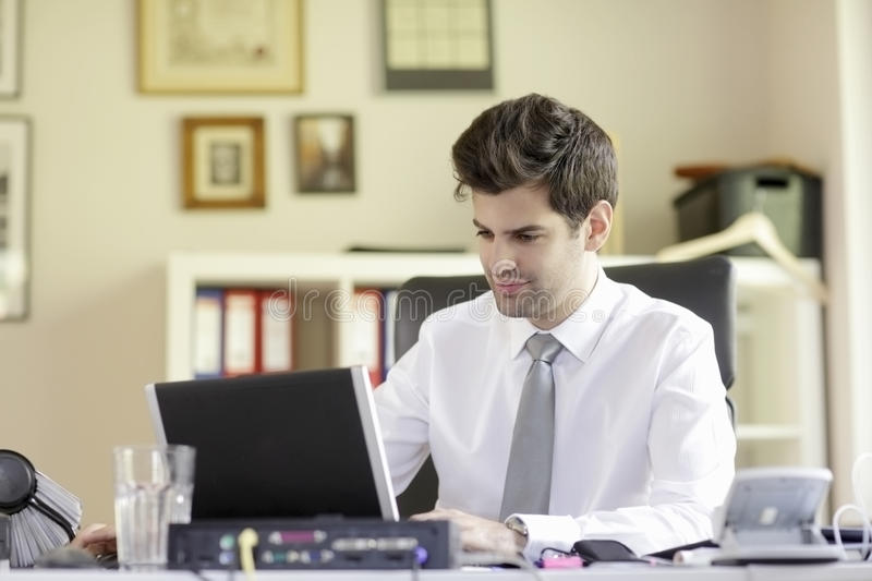 Download Businessman with laptop stock photo. Image of male, internet - 33504596