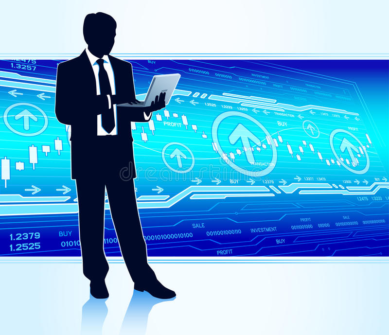 Download Businessman with laptop stock image. Image of analytics - 32775191