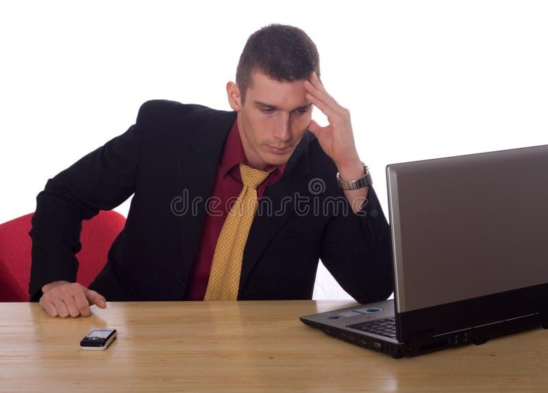 businessman laptop working στοκ φωτογραφία