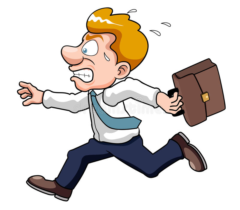 Businessman is late time. Illustration of Businessman is late time vector illustration
