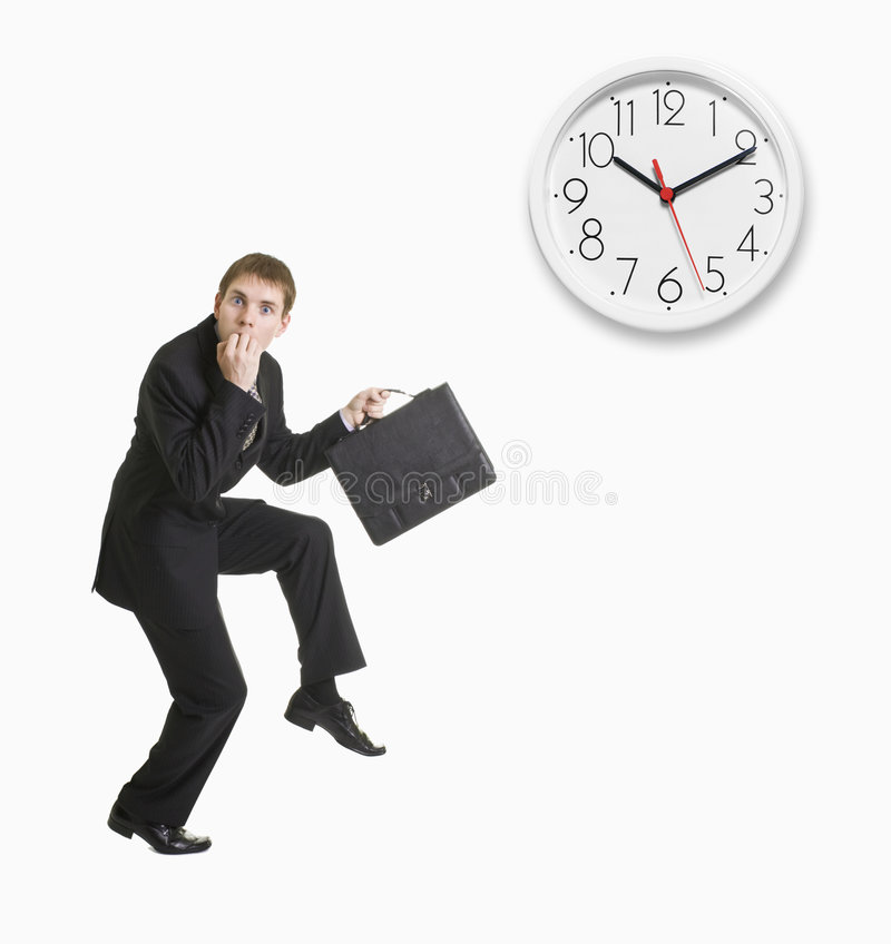 Businessman Late To Work Stock Photography