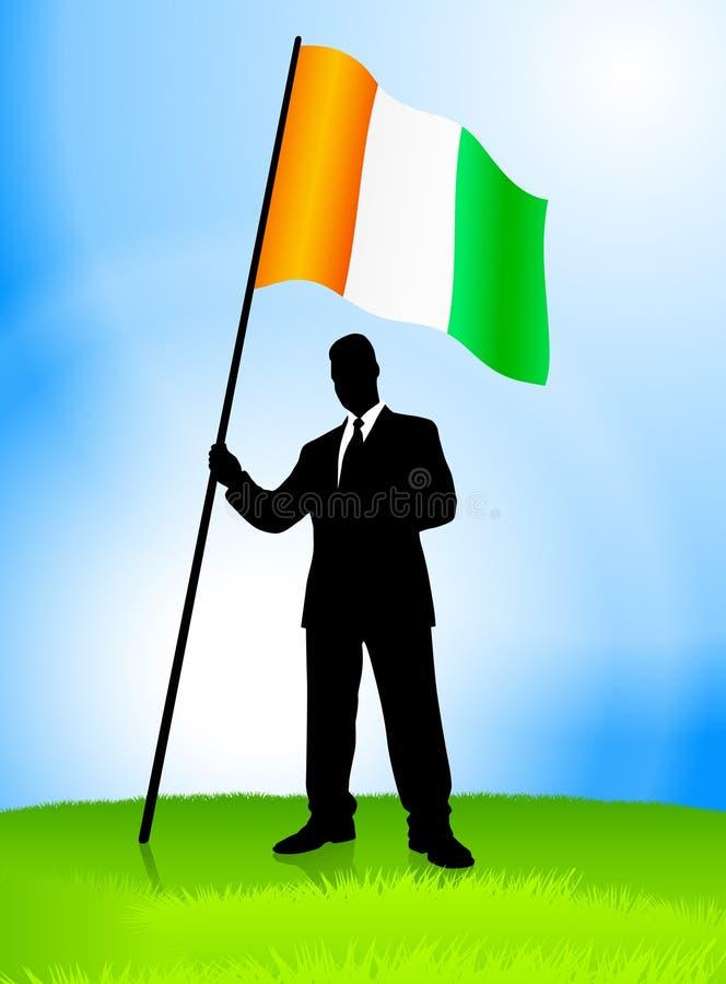 Download Businessman Leader Holding Ireland Flag Stock Illustration - Illustration: 14272266