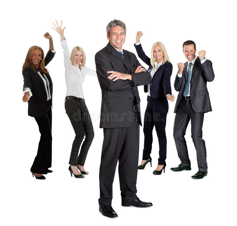 Download Businessman Leading An Group Stock Image - Image: 22287755