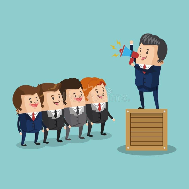 Businessman leading teamwork. Icon vector illustration graphic design vector illustration