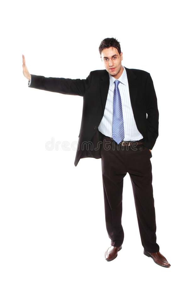 Businessman leaning stock photography
