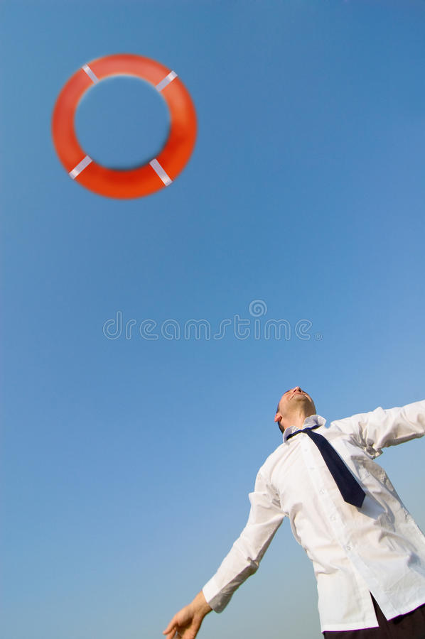 Download Businessman And Life Preserver Stock Images - Image: 12135674