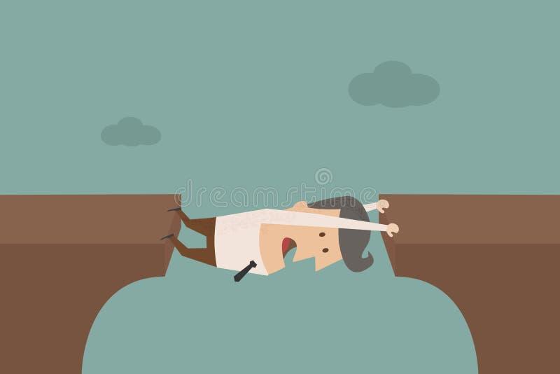 Businessman like a bridge. Vector EPS 10 royalty free illustration