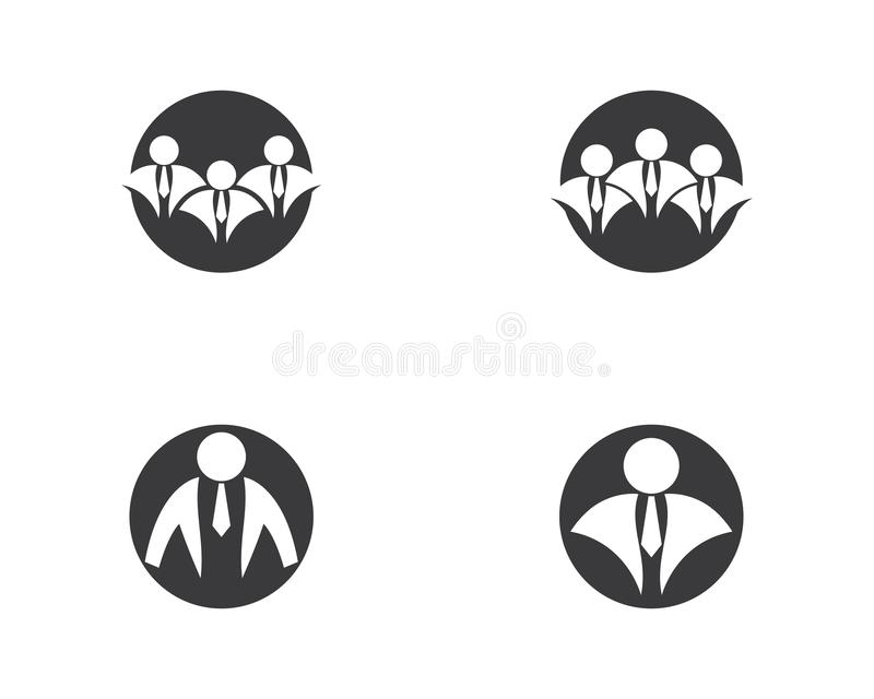 Businessman logo illustration royalty free illustration