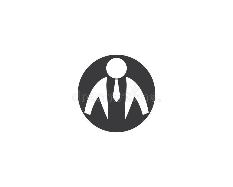 Businessman logo illustration royalty free illustration
