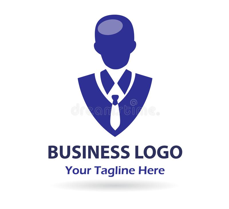 Businessman, LOGO, top rank portrait logo, male icon stock illustration