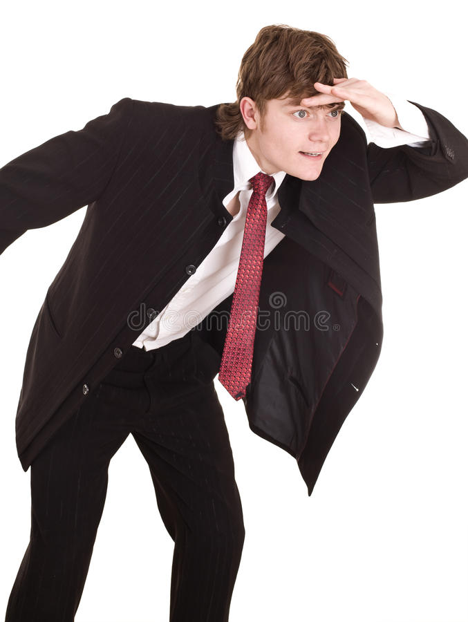 Download Businessman Look Forward In Future. Royalty Free Stock Image - Image: 10950646