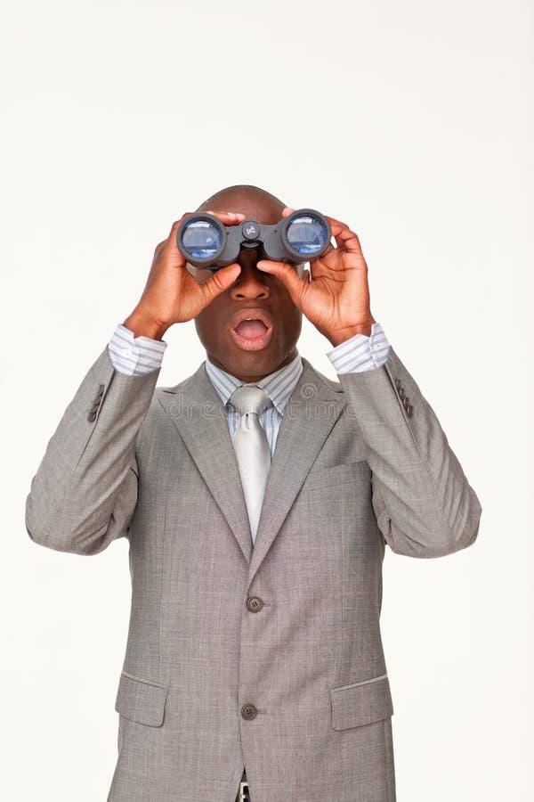 Download Businessman Looking Through Binoculars Stock Photo - Image: 11255840