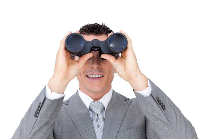 Download Businessman Looking Through Binoculars Stock Image - Image of business, binocular: 12230029